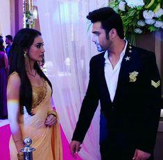 Tv Show Couples, Cute Couples Photos, Wedding Lehenga Designs, Saree Gown, Sari, Beautiful Dresses, Beautiful Women, Designer Blouse Patterns, Actor Photo