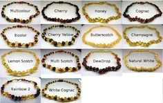 Baltic Amber Teething Bracelets 15cm., $16.95