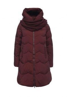 Куртка утепленная, Clasna, цвет: бордовый. Артикул: CL016EWNLY06. Женская одежда / Верхняя одежда / Пуховики и зимние куртки