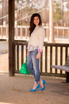 Great outfit for the tricky transition from winter to spring.