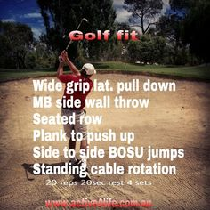Fitness for golf Golf Exercises, Push Up, The Row, Fitness
