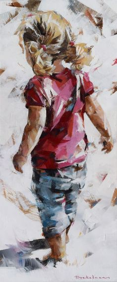 Something like this from Ella / max - Painting Painting People, Figure Painting, Painting & Drawing, Figurative Kunst, People Art, Beach Art, Beautiful Paintings, Painting Inspiration, Art Pictures