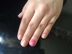 Be your nails simple with a little pink