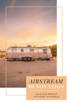 Our journey renovating and finally living in a vintage Airstream has been a wild one, but she's done! We are so happy to share with you our new luxury home on wheels.