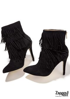 The Charm Fringe Bootie is part of the Kristin Cavallari Collection from Chinese Laundry. Fall in love with the style and Charm of these modern-chic booties! Crafted from a rich suede upper with a layered fringe detailing. Shop the complete collection at http://www.zappos.com/kristin-cavallari.