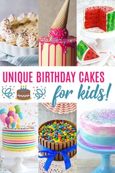 Take your kids' birthday parties to a whole' nother level with one of these unique birthday cakes for kids. You don't have to be a professional to pull these off either! Make a creative cake the talk of the party with one of these easy tutorials! Creative Birthday Cakes, Special Birthday Cakes, Diy Birthday Cake, Birthday Desserts, Creative Cakes, Birthday Parties, Birthday Ideas, Delicious Cake Recipes, Fun Recipes