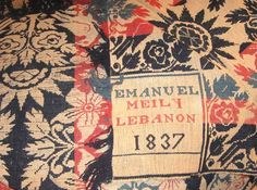 """Emmanuel Meilly 1837, Lebanon"", Pennsylvania"