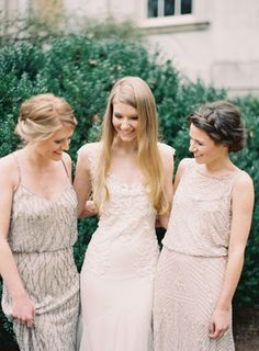 neutral gowns via @Once Wed