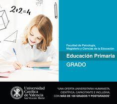 #Grado en #Educación #Primaria de la #UCV #presencial. #EmpleabilidadUCV #Magisterio #TuGradoUCV
