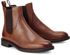 Vagabond Damen Amina Chelsea Boots Stiefeletten Braun Cognac Gr. 37