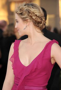 The back of Dianna Agron's hair...totally gorgeous and modern