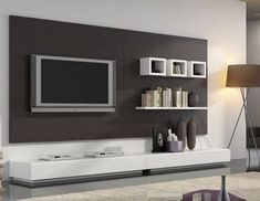 Elegant, Contemporary, and Creative TV Wall Design Ideas Living Room Modern, Home And Living, Living Room Designs, Tv Wall Design, House Design, Garden Design, Bedroom Tv Stand, Modern Entertainment Center, Rack Tv