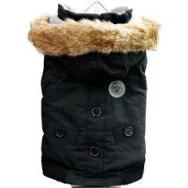 FouFou Dog Canada Fouse Dog Coat, Black, 3X-Large