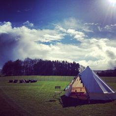 A typical Glampit bell tent. Moroccan / boho glamping