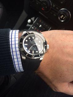 Rolex Deep Sea with Rubber B Strap.