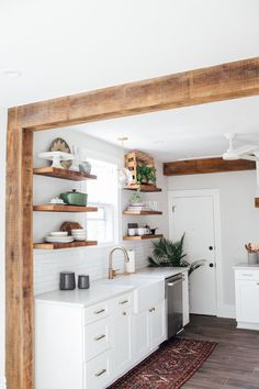 RENOVATION REVEAL: South Street Kitchen Happy Friday Everyone! Though we're always excited for the weekend, we are even more excited to share the reveal of the South Street kitchen renovation project with you! Home Decor Kitchen, Kitchen Interior, New Kitchen, Home Kitchens, Kitchen Hacks, Cottage Kitchen Renovation, Small Cabin Kitchens, Kitchen Ideas, Galley Kitchen Design