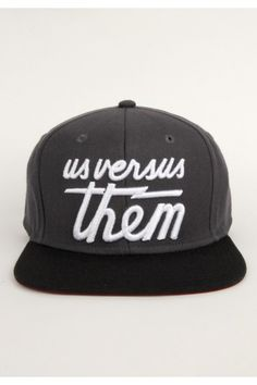 Us Versus Them Magnum Snapback Hat - Grey $26.00