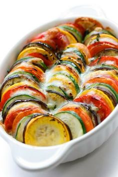 Eggplant and Zucchini Gratin by Julia Child So Pretty!!!