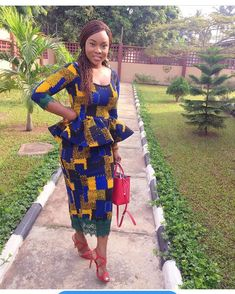 When picking out Sunday church clothing the first important thing to consider is.... African Print Dresses, African Dresses For Women, African Wear, African Attire, African Fashion Dresses, African Style, African Clothes, African Prints, Ghanaian Fashion
