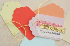 DIY paint chip and washi gift tags | yourwishcake.com. These are adorable! @Kerri W.