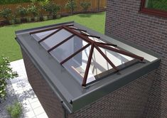 Pergola With Roof, Wooden Pergola, Pergola Shade, Patio Roof, Diy Pergola, Pergola Plans, Pergola Kits, Pergola Ideas, Flat Roof Skylights