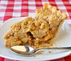 Deep Dish Apple Crumble Pie - What looks like an old fashioned apple crumble pie really uses a new method to treat all three components separately, then bakes them together at the end for a perfect bottom crust, filling sand buttery crumble topping. Pie Perfection!
