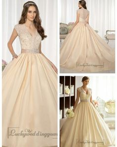 Elegant Cap Sleeves V-neck Princess Ball Gown Wedding Dresses with Beaded Illusion Jacket http://www.ckdress.com/elegant-cap-sleeves-vneck-princess-ball-gown-wedding-dresses-with-beaded-illusion-jacket-p-1996.html  #wedding #dresses #dress #Luckyweddinggown #Luckywedding #wed #clothing #gown #weddingdresses #dressesonline #dressonline #bridaldresses