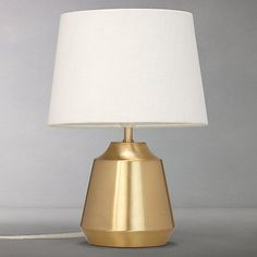 Buy John Lewis Lupin Table Lamp, Brushed Brass Online at johnlewis.com