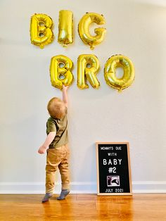 Baby Number 2 Announcement, 2nd Pregnancy Announcements, Creative Baby Announcements, Baby Surprise Announcement, Big Brother Announcement, Baby Announcement Pictures, Second Baby Reveal, 2nd Baby, Cool Baby Stuff