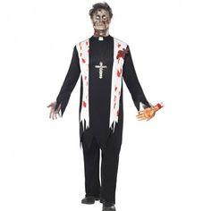 Costume homme prêtre zombie