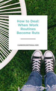 What's the difference between a routine and a ritual? And what happens when your work routines become ruts? We're talking about the tough stuffclick for more. | Career Contessa
