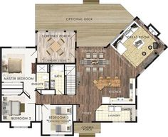 "Beaver Homes and Cottages - ""Stillwater"" floor plan Dream House Plans, Small House Plans, House Floor Plans, My Dream Home, Cottage Design, House Design, Beaver Homes And Cottages, Cottage Plan, Sims House"