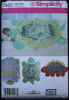 Simplicity 4993 Rag Quilt Throw or Wall Hanging, Cat Dog Bear ...