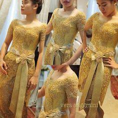 21 Model Vera Kebaya Terbaru   Inspirasi Pernikahan Vera Kebaya, Kebaya Lace, Kebaya Brokat, Batik Kebaya, Kebaya Dress, Batik Dress, Lace Dress, Dress Up, Kimono