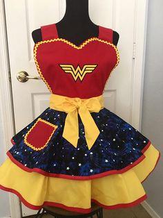 Wonder Women Apron, Circle Apron