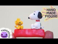 Polymer Clay Snoopy Woodstock Tutorial / Handmade Miniature Character Figure - YouTube