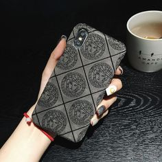 iphone 8 case Versace iphone x case gray - - Perfect Fits For iPhone - The Versace Case is High Quality Guarantee - Please select model to buy - Apple: iPhone X,iPhone 7 Plus,iPhone 6 Plus Iphone 8 Cases, Iphone 8 Plus, Cell Phone Cases, Versace Logo, Buy Apple, White Iphone, Iphone Models, Sunglasses Case, Pouch