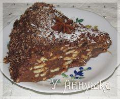Шоколадный торт из печенья.