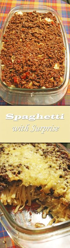 Spaghetti with Surprise Other Recipes, Beef Recipes, Great Recipes, Dinner Recipes, Favorite Recipes, Recipies, I Love Food, Good Food, Yummy Food