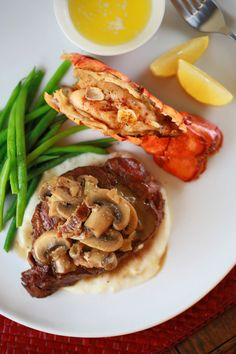 Delicious Surf and Turf recipe. Going to be the perfect Valentine's Day dinner I'll be making for my man <3