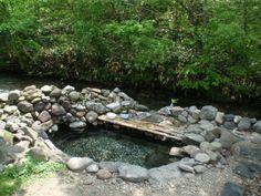 養老牛温泉 からまつの湯. Hot tub/ natural spring