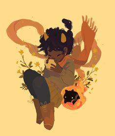 Katie is creating Comics & Illustrations Black Love Art, Black Girl Art, Art Girl, Cute Art Styles, Wow Art, Magic Art, Character Drawing, Pretty Art, Afro Art
