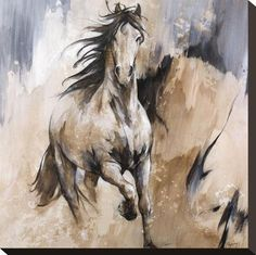 size: Stretched Canvas Print: Frison by Cyril Réguerre : Artists Using advanced technology, we print the image directly onto canvas, stretch it onto support bars, and finish it with hand-painted edges and a protective coating. Stretched Canvas Prints, Framed Art Prints, Framed Wall, Wall Art, Horse Artwork, Horse Paintings, Watercolor Horse, Horse Drawings, Equine Art
