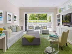 lovely design for a long thin living room - contemporary living room by Matarozzi Pelsinger Builders