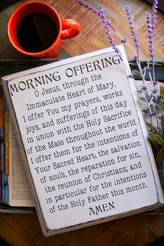 Rustic Catholic Morning Offering Prayer Sign Catholic All Year, Catholic Quotes, Catholic Prayers, Religious Quotes, Catholic Daily, Prayer Signs, Prayer Board, My Prayer, Offering Prayer