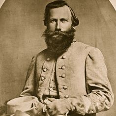 """General James Ewell Brown """"Jeb"""" Stuart (Feb 6, 1833 – May 12, 1864)  Arguably Stuart's most famous campaign, Gettysburg, was marred when he was surprised by a Union cavalry attack at the Battle of Brandy Station and by his separation from Lee's army for an extended period, leaving Lee unaware of Union troop movements and arguably contributing to the Confederate defeat at the Battle of Gettysburg.  He was was mortally wounded at the Battle of Yellow Tavern."""