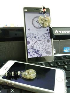 My edelweiss cell phone charm