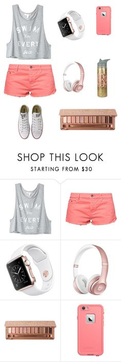 """""""Love the colors"""" by soccer-tumblr ❤ liked on Polyvore featuring Victoria's Secret, Roxy, Urban Decay, LifeProof and Converse"""