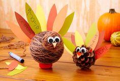 How to Make a Yarn Gratitude Turkey