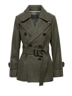 Hunauoo Lapel Trench Parka Coat Women Warm Double Breasted Pea Coat Overcoat Outwear